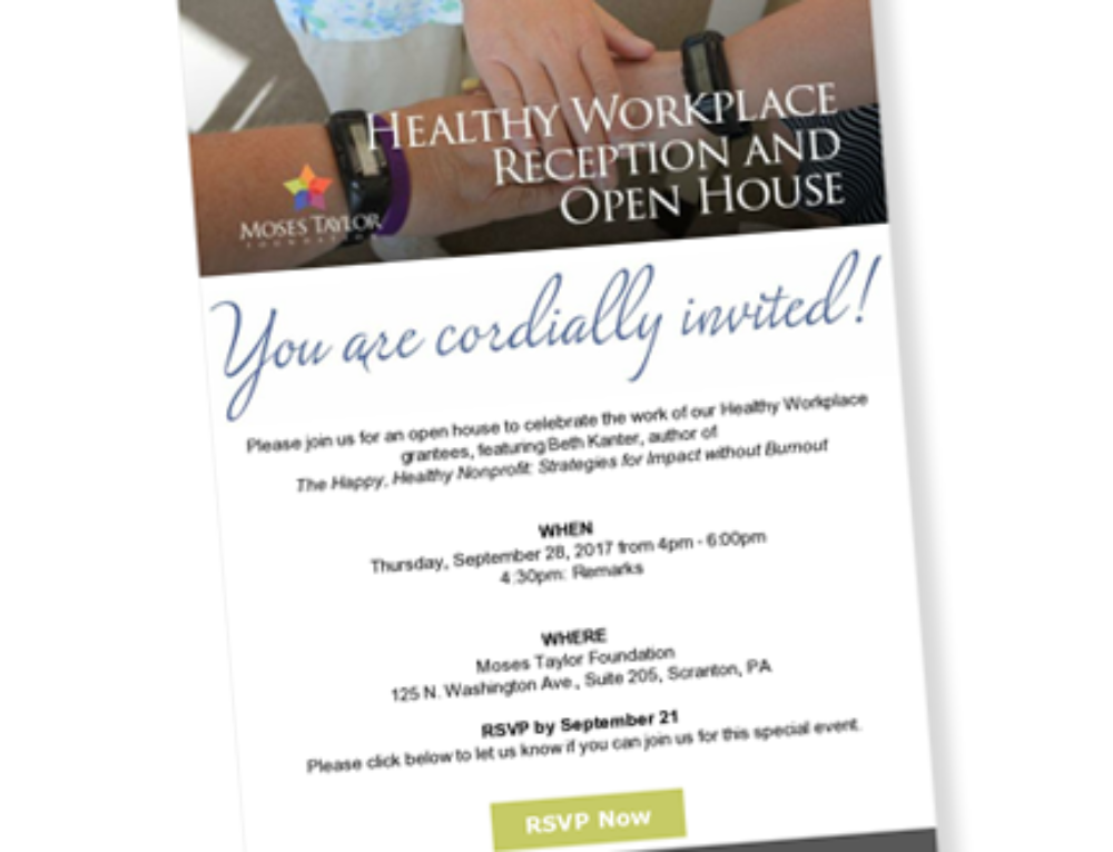 Healthy Workplace Reception and Open House